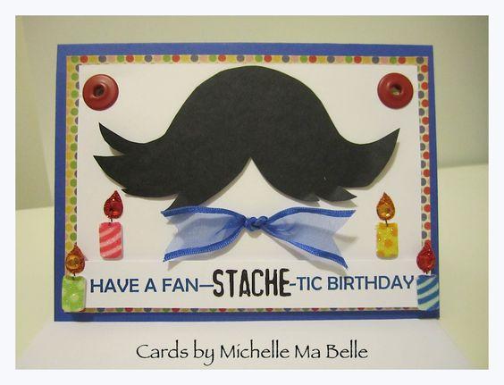 Moustache Craze - Have a Fan-Stache-Tic Birthday