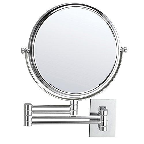Mirko 10x Magnification 8 Inch Doublesided Swivel Extendable Bathroom Wall Mount Makeup Mirror Polished Chrome Wall Mounted Makeup Mirror Makeup Mirror Mirror