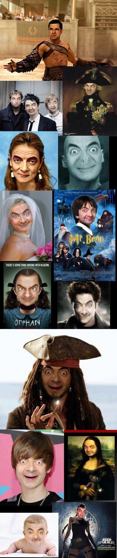 Mr. Bean face swap