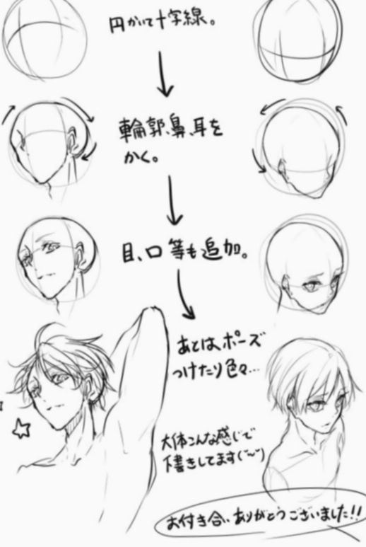 13 Anime Face Angles Male Face Angles Manga Drawing Tutorials Art Sketches