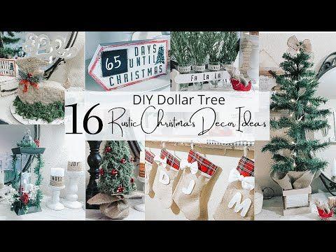 16 Diy Dollar Christmas Decor Ideas Rustic Christmas Decor Youtube In 2020 Christmas Decorations Rustic Christmas Stockings Diy Rustic Christmas