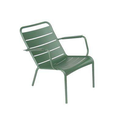 Tuin En Terras Stoelen.Fermob Luxembourg Low Patio Chair Color Cedar Green In 2020