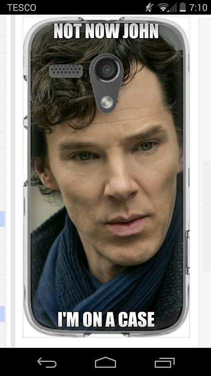 I wanted to get a Sherlock phone case so looked on some websites when I saw a make your own ...