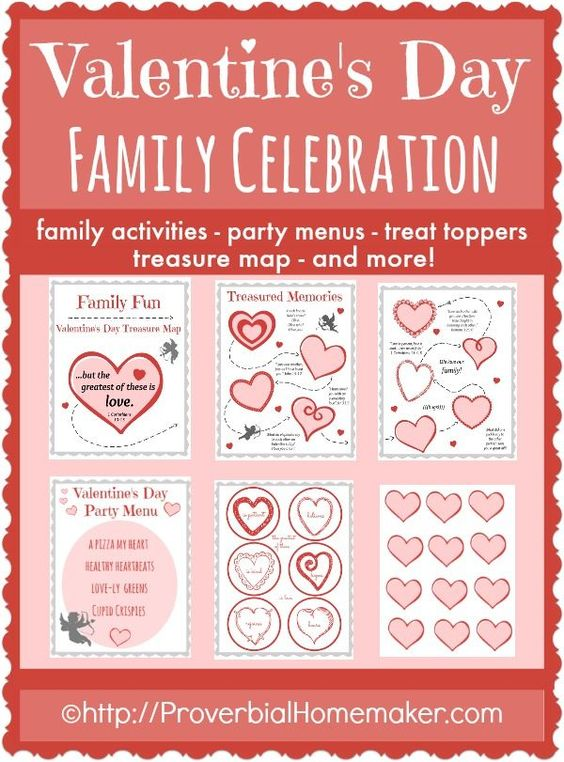 valentine's day menus template