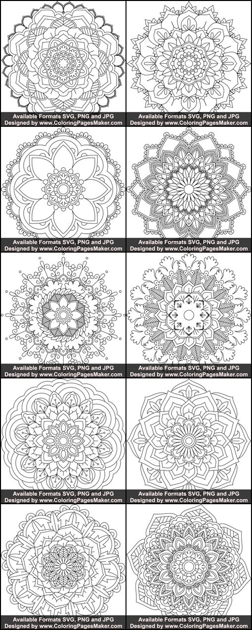 Svg Mandala Art 118 Simple Mandala Mandala Coloring Pages