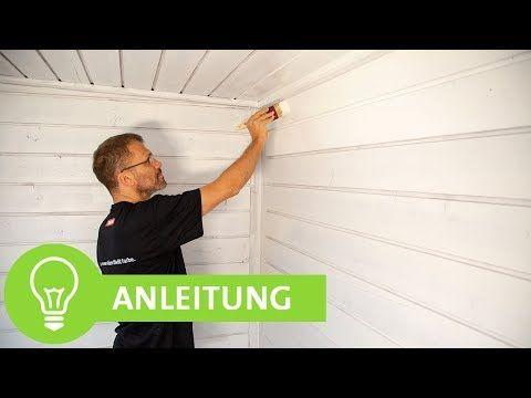Holzdecke Und Holzwand Weiss Streichen Schritt Fur Schritt Anleitung Youtube Holzdecke Holzwand Holzpaneele