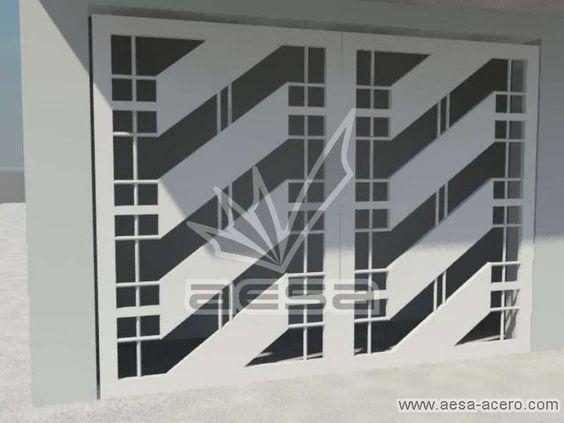 Barandales de herreria modernos portones de herrer a con for Puertas para casas minimalistas