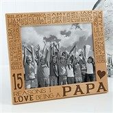 Reasons Why For Him Personalized Picture Frame- 8x10 - 14946-L