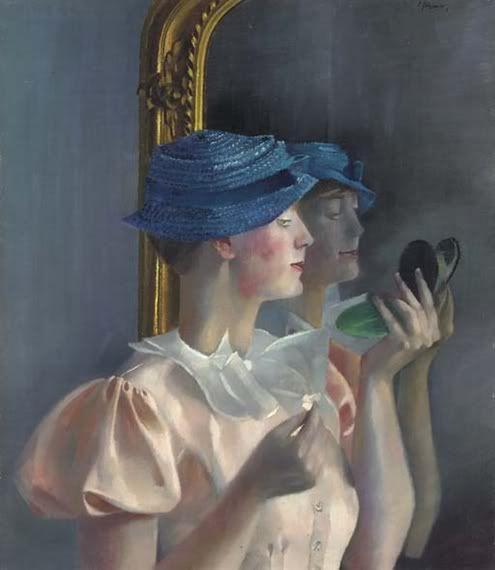 Londa vor dem Spiegel, 1933 by Conrad Felixmüller (1897-1977)