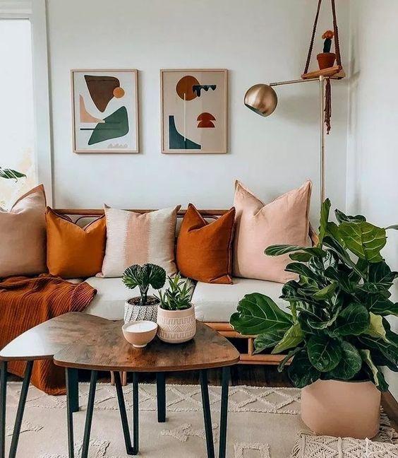 Living room house plant designs