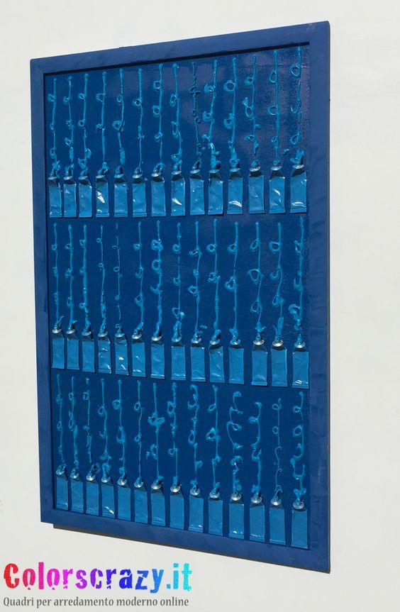 Quadro moderno stile Arman Fernandez - Collage tubetti di colore - Acquista online su www.colorscrazy.it