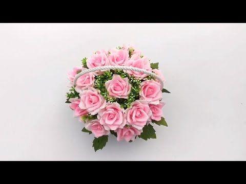 How To Make Basket Rose Flowers With Crepe Paper Diy Bigboom Diy Paper Flowers Tutorial Youtube Paper Flowers Diy Paper Roses Paper Flower Tutorial