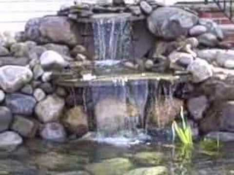 Diffusers pond waterfall and koi on pinterest for Diy ponds and waterfalls