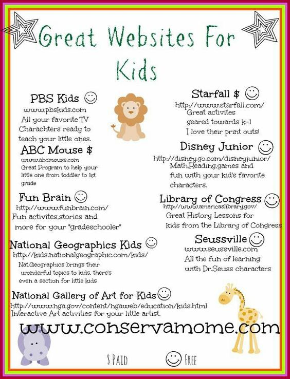 Websites for kids that you can use at home.