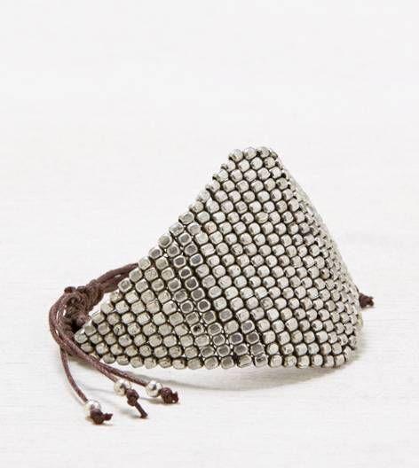 Silver AEO Silver Beaded Bracelet
