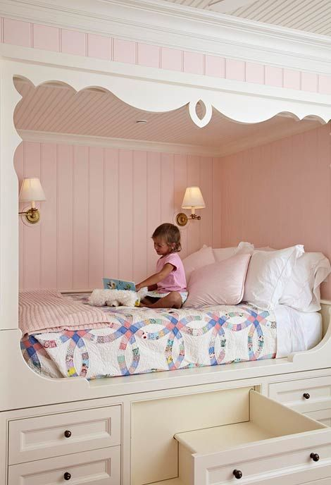 Fairytale girl s bedroom this picture perfect ethereal for Fairytale beds