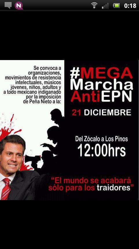 mega marcha ANTI EPN el 21 de Diciembre