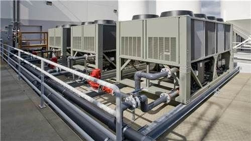 Industrial Chiller Mechanical Room Hvac Water Chillers