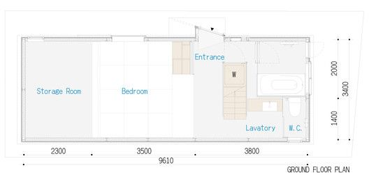 House in Itami,Ground Floor Plan
