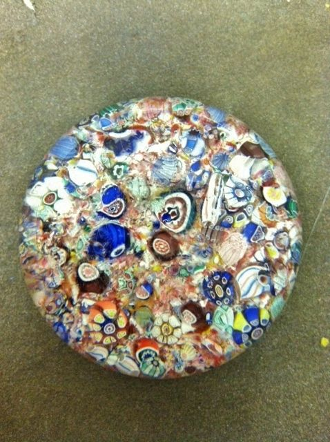 Beautiful Vintage Scrambled Millefiori Glass Paperweight No Reserve | eBay