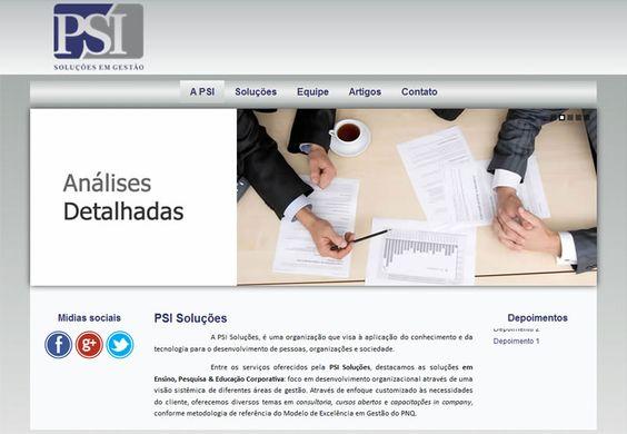 PSI Soluções em Processos - Desenvolvido por W3alpha. www.w3alpha.com.br