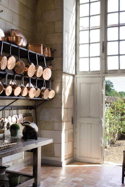 brass pots & windows