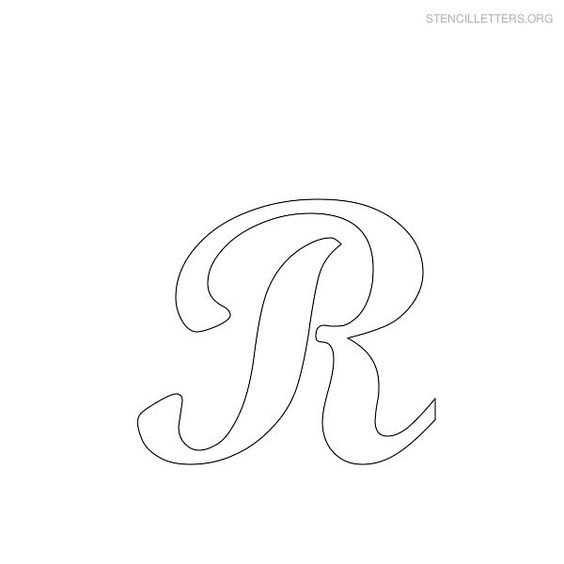 Free Printable Alphabet Stencils | Printable Free R Stencils | Stencil Letters Org | R= Riley