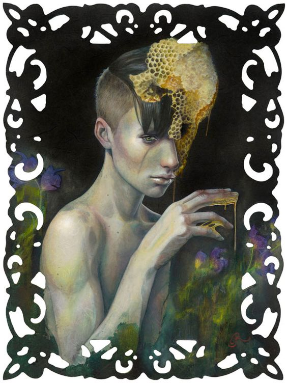 Romeo by Redd Walitzki: Beauty Oil, Romeo Painting, Art Photography, Art Prints, Walitzki Artwork, Art Illustration, Fine Art Print