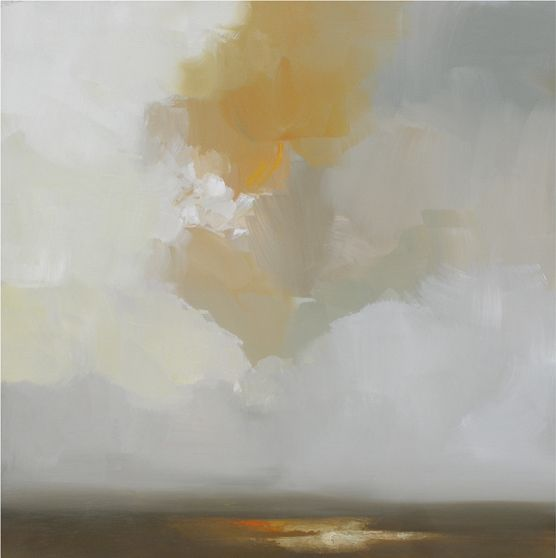 landscape #32 ~ acrylic and oil stick ~ by robert roth