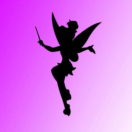 Vinyl wall sticker decal Tinkerbell silhouette vinyl wall sticker decal room by kisvinyl, $20.99