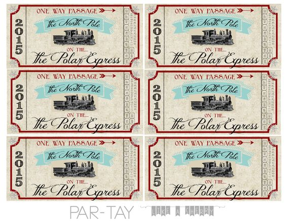 authentic looking polar express free printable train tickets for your christmas party or family gathering