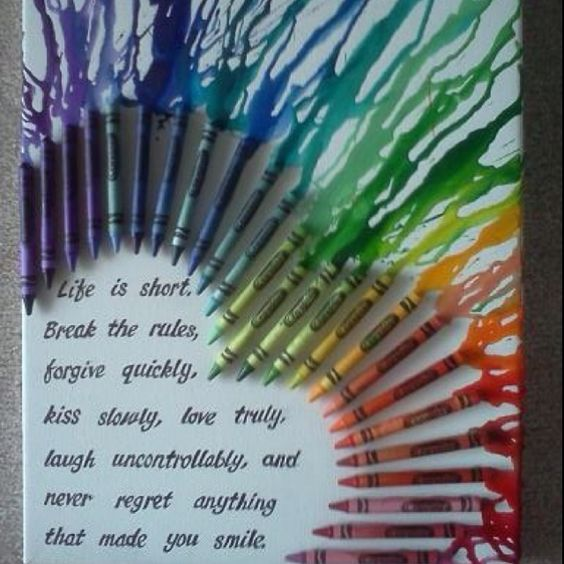 Crayon art is popular so I love the grown up uniqueness of this. I'm inspired by this for a creation of my own!  :-)
