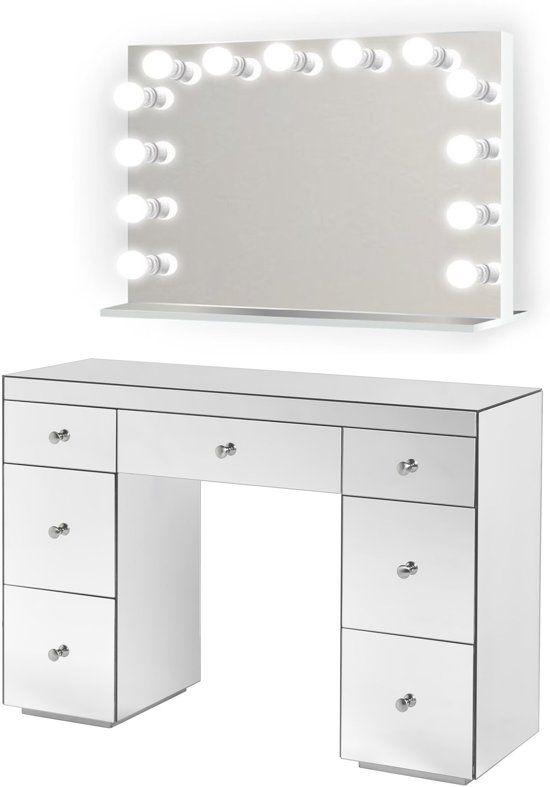 Wonderbaar BRIGHT BEAUTY Hollywood spiegel make up tafel met LED lampen BQ-52