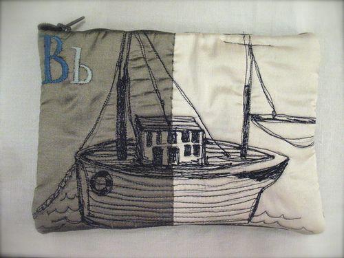 B for Boat purse by Tara Badcock
