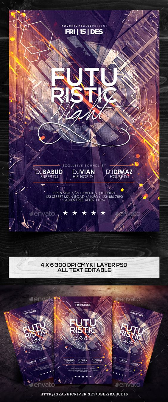 Futuristic Night Flyer Template