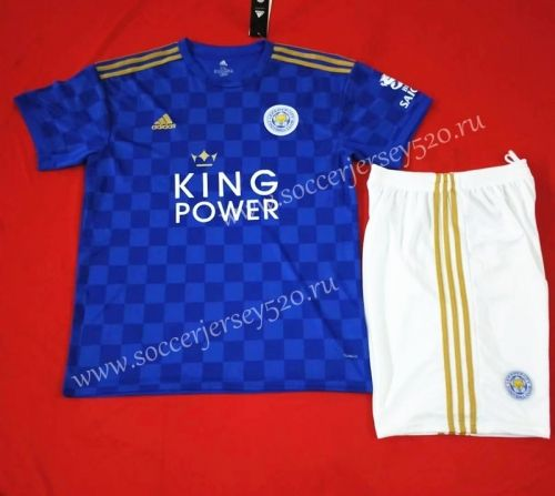 2019 20 Leicester City Home Blue Thailand Soccer Uniform