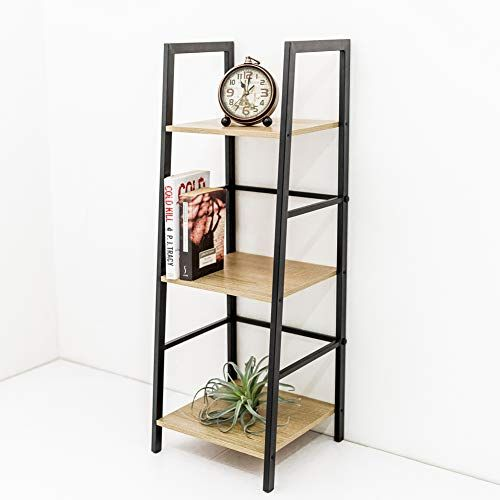3Tier Ladder Shelf Bookcase Vintage Rustic Shelves Bookshelf Storage Home Office