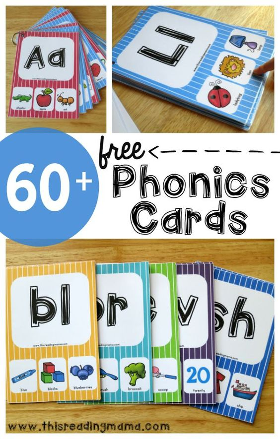 Over 60 FREE Phonics Cards for beginning sounds, vowel sounds, blends, digraphs and MORE! | This Reading Mama