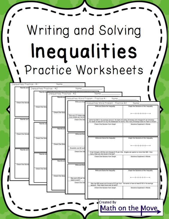 inequalities notes and practice includes word problems words word problems and worksheets. Black Bedroom Furniture Sets. Home Design Ideas