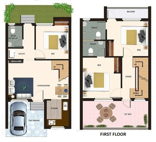 20 Feet By 45 Feet House Map Decorchamp House Plans Duplex House Design 20x30 House Plans