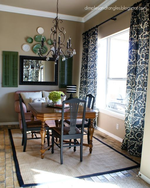 Kitchen Eating Area Love This Little Area Love The Window Treatments And