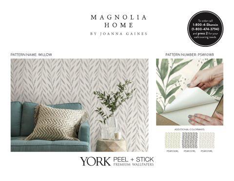 Magnolia Home Premium Peel Stick Wallpapers In 2020 Wallpaper Magnolia Homes Peel And Stick Wallpaper