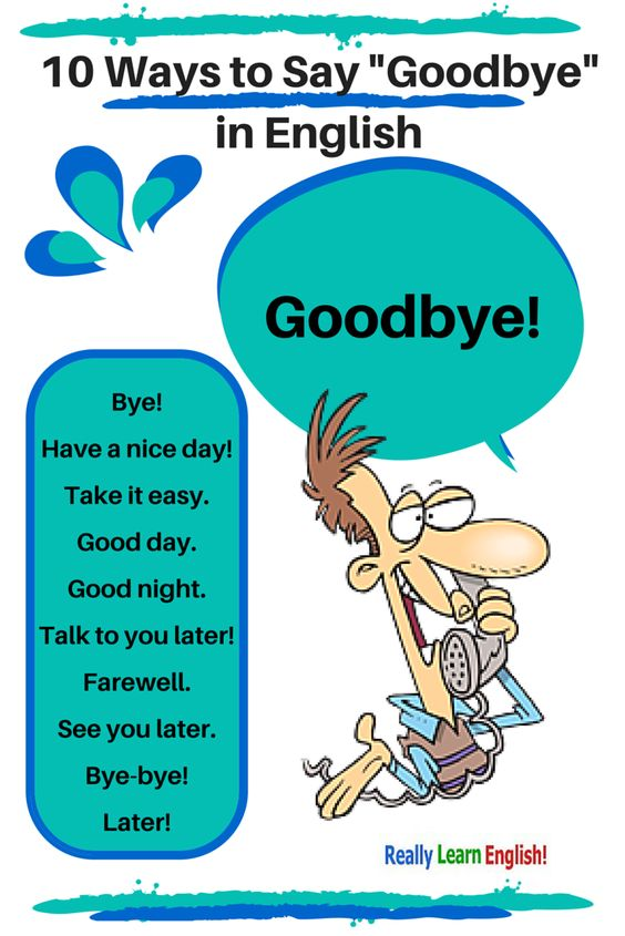 10 Ways to Say Goodbye in English (formal and informal) -           Chesapeake College Adult Ed. offers free classes on the Eastern Shore of MD to help you earn your GED - H.S. Diploma or Learn English (ESL) .   For GED classes contact Danielle Thomas 410-829-6043 dthomas@chesapeke.edu  For ESL classes  contact Karen Luceti - 410-443-1163  Kluceti@chesapeake.edu .  www.chesapeake.edu: