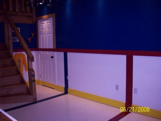 Nhl Man Cave Ideas : Arena floor for brett s hockey man cave new house