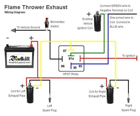 Flame Thrower Exhaust Wiring Diagram Flamethrower Automotive Mechanic Automotive Electrical