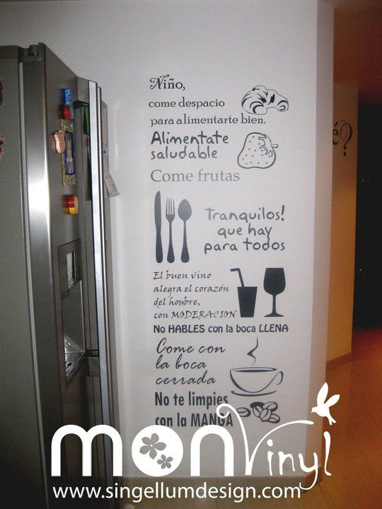Mesas and stickers on pinterest - Vinilicos para cocina ...