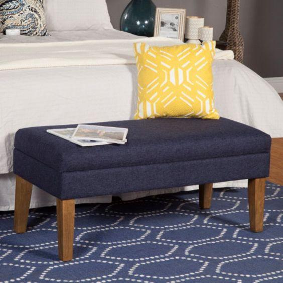 Kinfine USA Chunky Textured Decorative Storage Bench