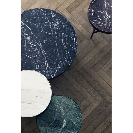 Ferm Living's marble table features a beautiful design – the solid marble plate rests on a simple metal frame that has been powder coated to match the hue of the table top. Place the table next to your bed, lounge chair or sofa or combine it with other marble tables to create intriguing variation in colour, width and height.