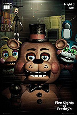 """5 Nights At Freddy's - Gaming Poster / Print (Characters) (Size: 24"""" x 36"""")"""