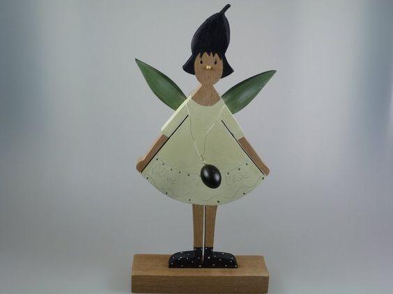 Deko-Objekte - Figur aus Holz -  Olive -  - ein Designerstück von mw-holzkunst bei DaWanda